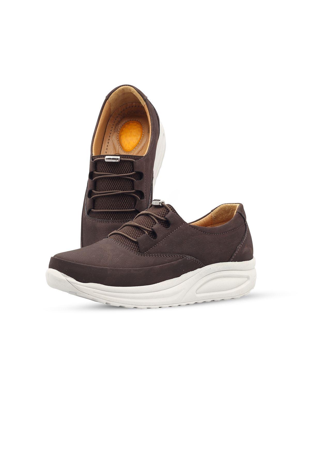855 Nubuk Kahve Kadın Yürüyüş Ayakkabısı