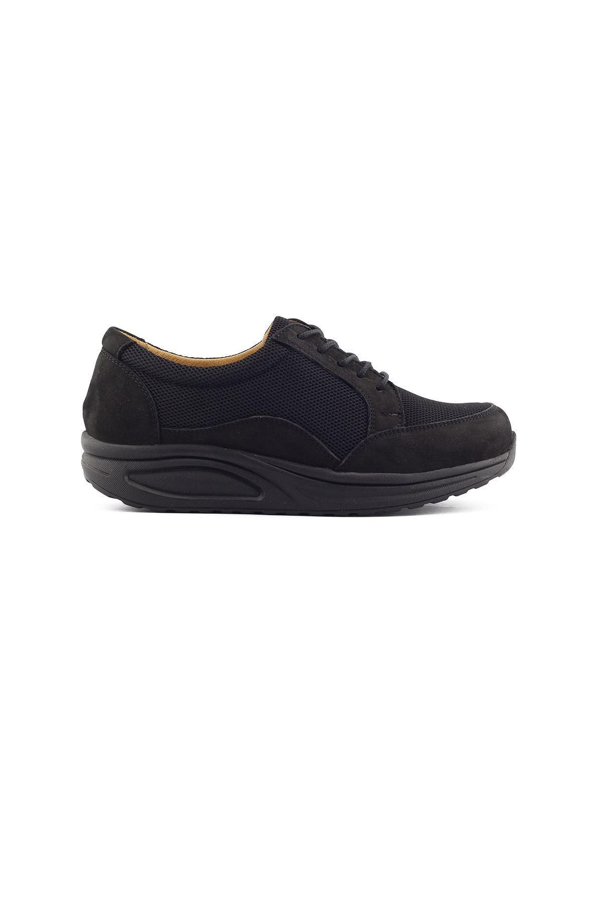756 Nubuk Siyah Kadın Yürüyüş Ayakkabısı