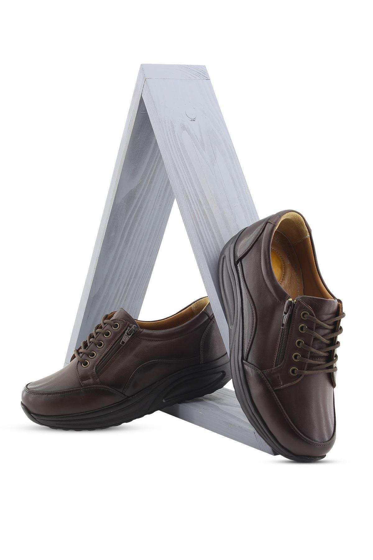 755 Kahve Kadın Yürüyüş Ayakkabısı