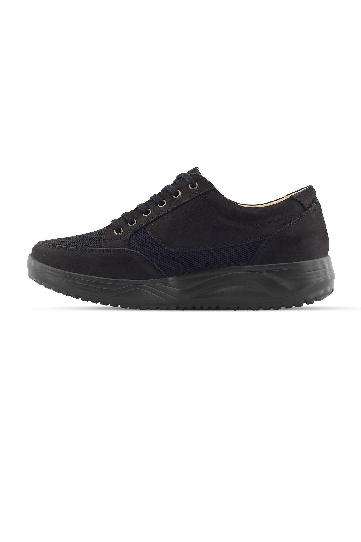 1656 Nubuk Siyah Erkek Yürüyüş Ayakkabısı