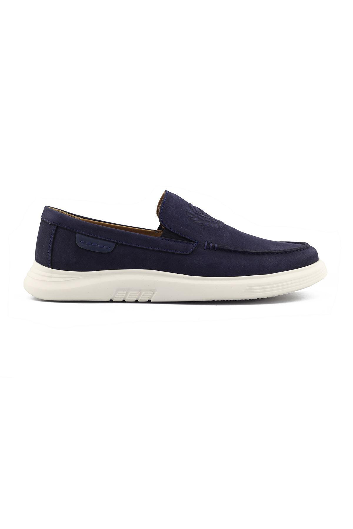 2105 Nubuk Lacivert Stil Erkek Ayakkabı