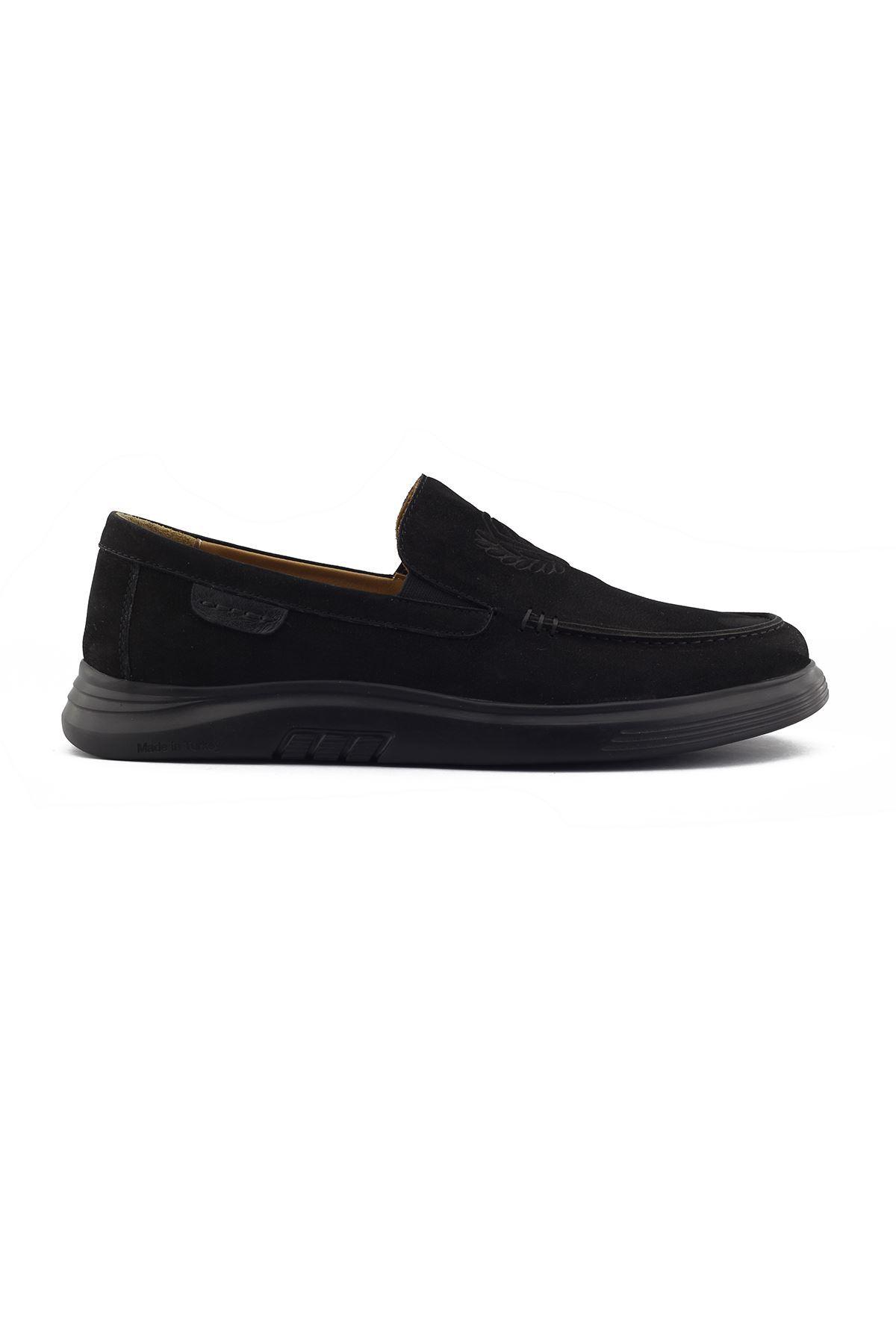 2105 Nubuk Siyah Stil Erkek Ayakkabı