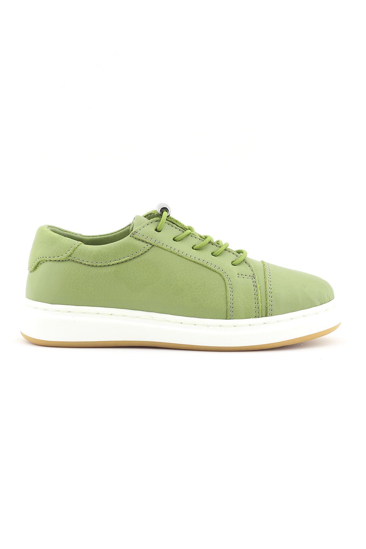 Yeşil Hakiki Deri Bebek/Çocuk ilk Adım Günlük Spor Ayakkabı - BB0405 YEŞİL
