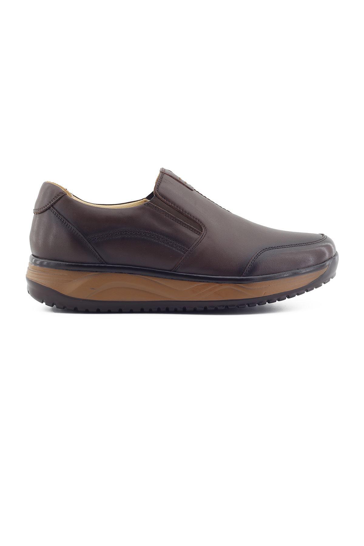 1650 Kahve Erkek Büyük Numara Yürüyüş Ayakkabısı (45-46)