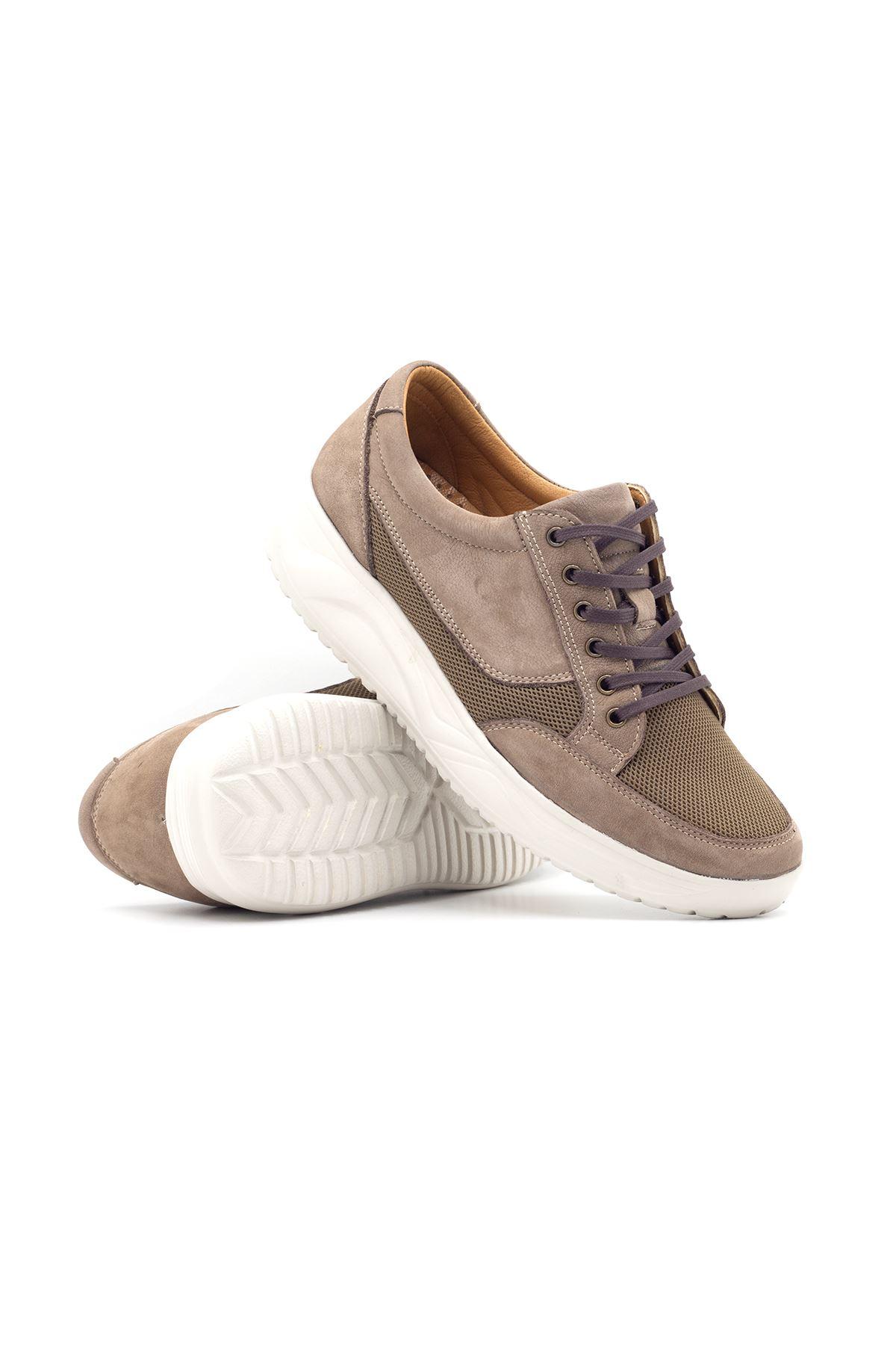 1656 Nubuk Kum Erkek Büyük Numara Yürüyüş Ayakkabısı (45-46)